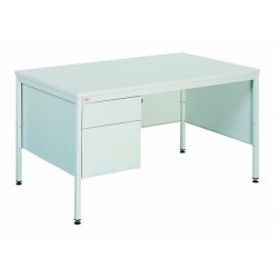 Writing metal desk with two drawers