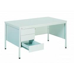 Офісний металевий стіл з трьома висувними скриньками