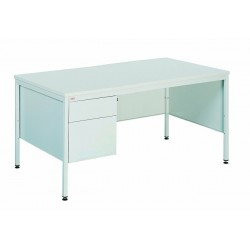 Письменный металлический стол с двумя выдвижными ящиками
