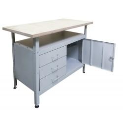 Металлический стол (верстак) для мастерской