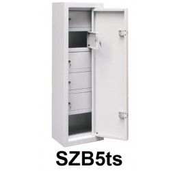 Metal cabinet for storage of weapons and ammunition in five isolated cells