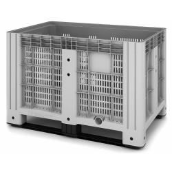 Пластиковый контейнер iBox перфорированный на полозьях