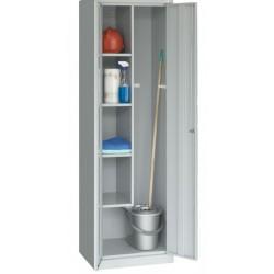 Господарська металева шафа для прибирального інвентарю