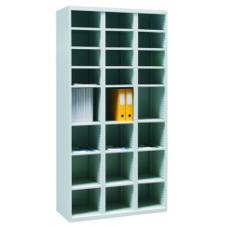 Metal cabinet with compartments for sorting and storing documents