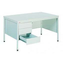 Офисный металлический стол с тремя выдвижными ящиками