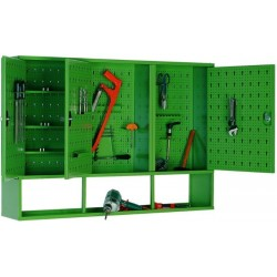 Hanging metal cabinet for workshop