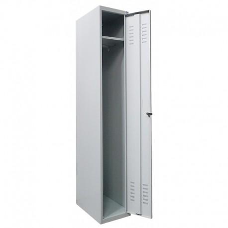 Single compartment wardrobe locker (monoblock/knock-down construction)
