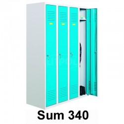 Металлический шкаф для одежды четырехдверный