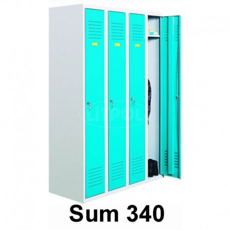 Four-door wardrobe (clothing), metal cabinet