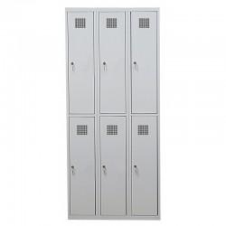 Ячеечный шкаф для камер хранения на 6 отделений