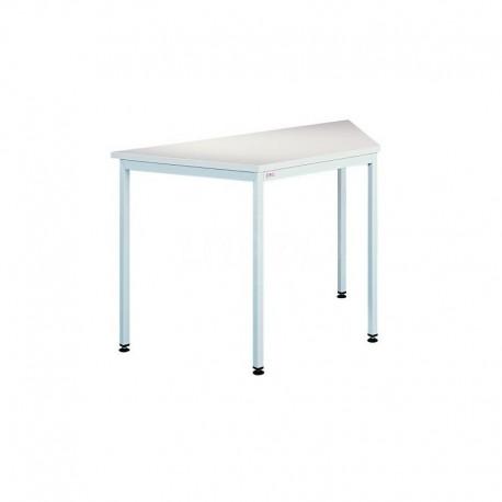 Металлический офисный стол трапецевидной формы
