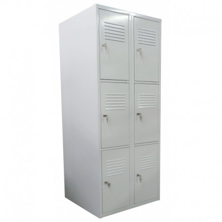 Double tier wardrobe locker with 4 compartments (monoblock/welded construction)