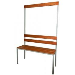Гардеробная скамейка с вешалкой односторонняя