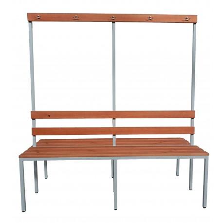 Гардеробная скамейка с вешалкой двухсторонняя