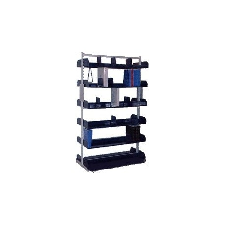 Library shelving metal shelving double sided