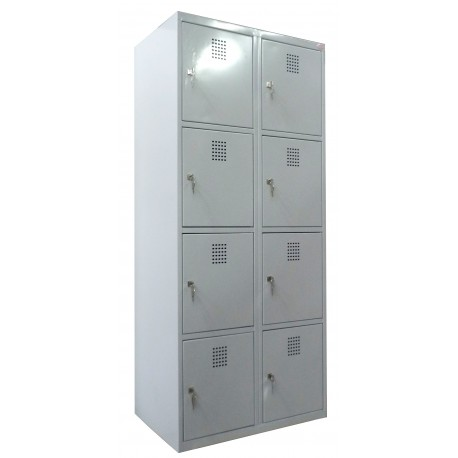 4 tier locker with 8 compartments (monoblock/welded construction)