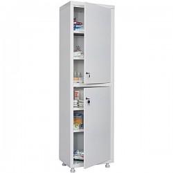 Single-leaf metal medical cabinet