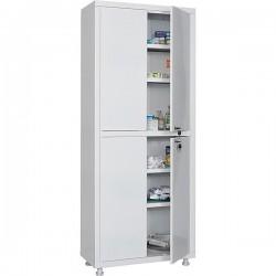Double-leaf metal medical cabinet