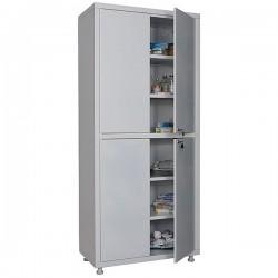 Двухстворчатый металлический медицинский шкаф