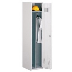 Single compartment wardrobe locker (monoblock/knock-down construction)