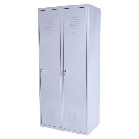 Шкаф одежный металлический с перегородкой