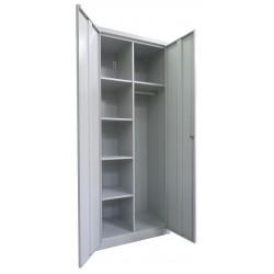 Хозяйственный металлический шкаф с жердью для одежды SMD 61