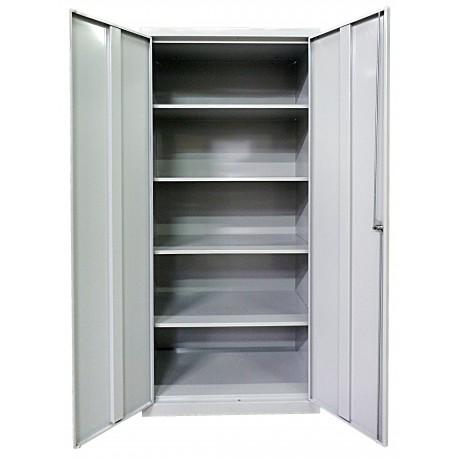 Хозяйственный металлический шкаф с четырьмя полками