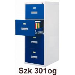 Металлический шкаф для картотеки с повышенной огнеупорностью.