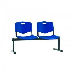 Стільці для зони очікування ISO-2 Z plast black