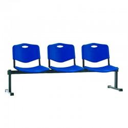 Стільці для зони очікування ISO-3 Z plast black