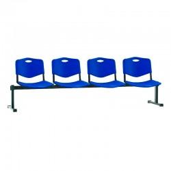 Стільці для зони очікування ISO-4 Z plast black