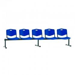 Стільці для зони очікування ISO-5 Z plast black