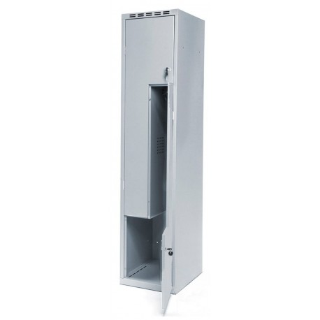 Одежный металлический шкаф (локер) с Г-образными дверями