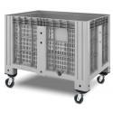 Пластиковий контейнер iBox перфорований на колесах