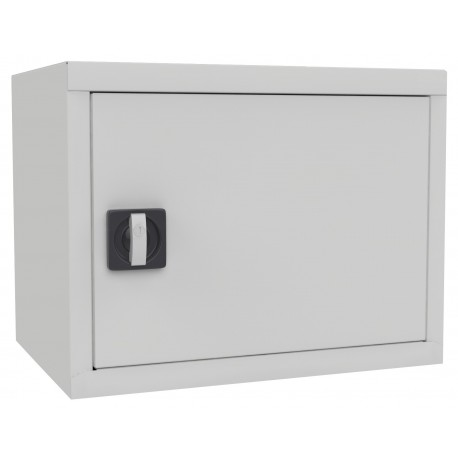 Antresol with a hinged door for the office of the metal cabinet