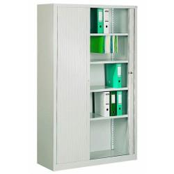 Шкаф офисный металлический с дверями типа жалюзи