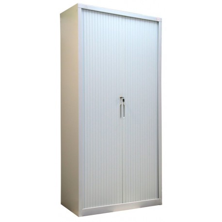 Metal cabinet for documents with jalousie's doors