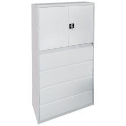 Шкаф металлический для скоросшивателей и подвесных папок формат А4.