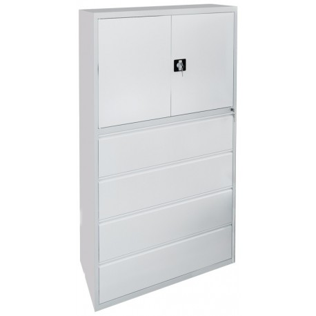 Metal cabinet for storage of documents