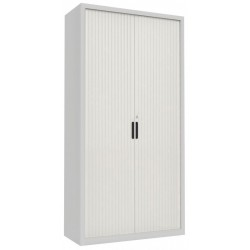 Metal cabinet for documents and clothing with jalousie's doors