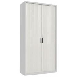 Металлический шкаф для документов с дверями типа жалюзи Sbm 218
