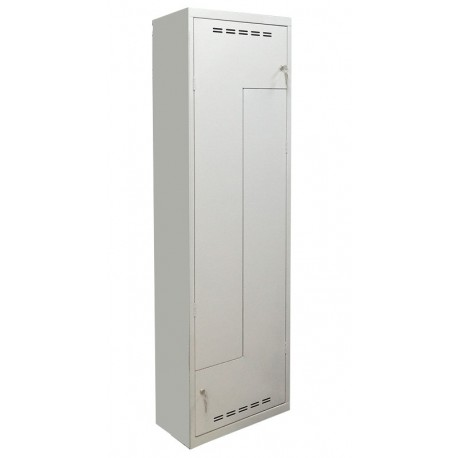 L-shaped double compartment wardrobe locker