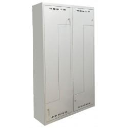 Гардеробный металлический шкаф с Г-образными дверьми