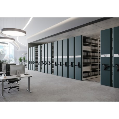 Mobile metal shelving archival LITREG