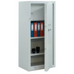 One door reinforced metal cabinet.