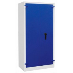 Bivalve metal cabinet, safe deposit box.