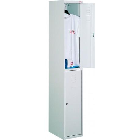Ячеечный металлический шкаф с дополнительной полкой