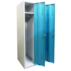 Double compartment wardrobe locker for children (monoblock/welded construction)
