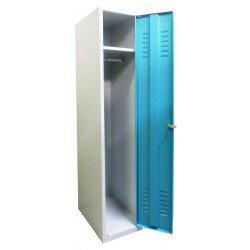 Single compartment wardrobe locker for children (monoblock/welded construction)