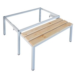 Выдвижная скамейка-подставка под одежный шкаф Pw